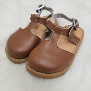 Freshly Picked Sz 6 Cognac Clogs Brown Leather